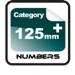 125mm+ Race Numbers